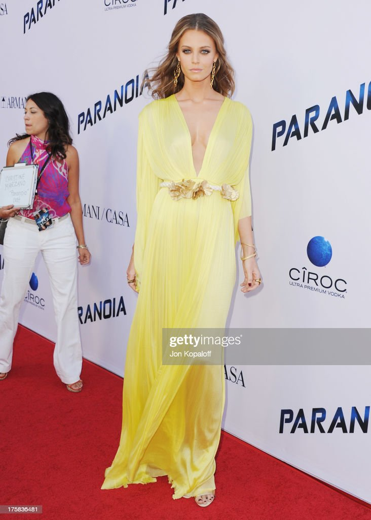 Actress Christine Marzano arrives at the Los Angeles Premiere 'Paranoia' at DGA Theater on August 8, 2013 in Los Angeles, California.
