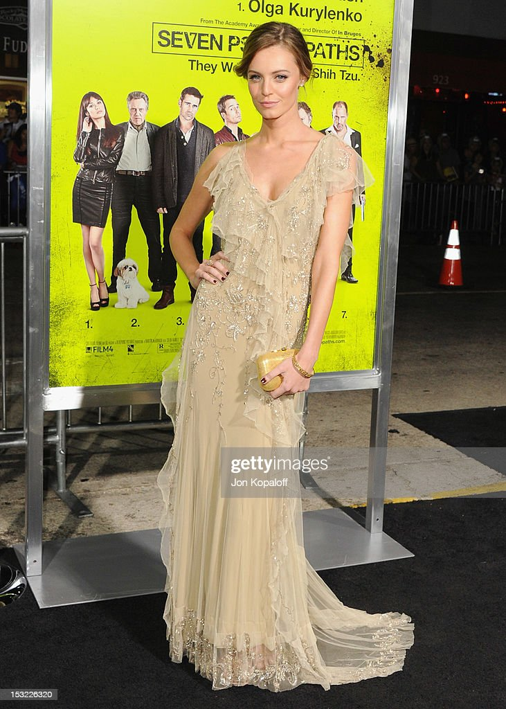 Actress Christine Marzano arrives at the Los Angeles Premiere 'Seven Psychopaths' at Mann Bruin Theatre on October 1, 2012 in Westwood, California.