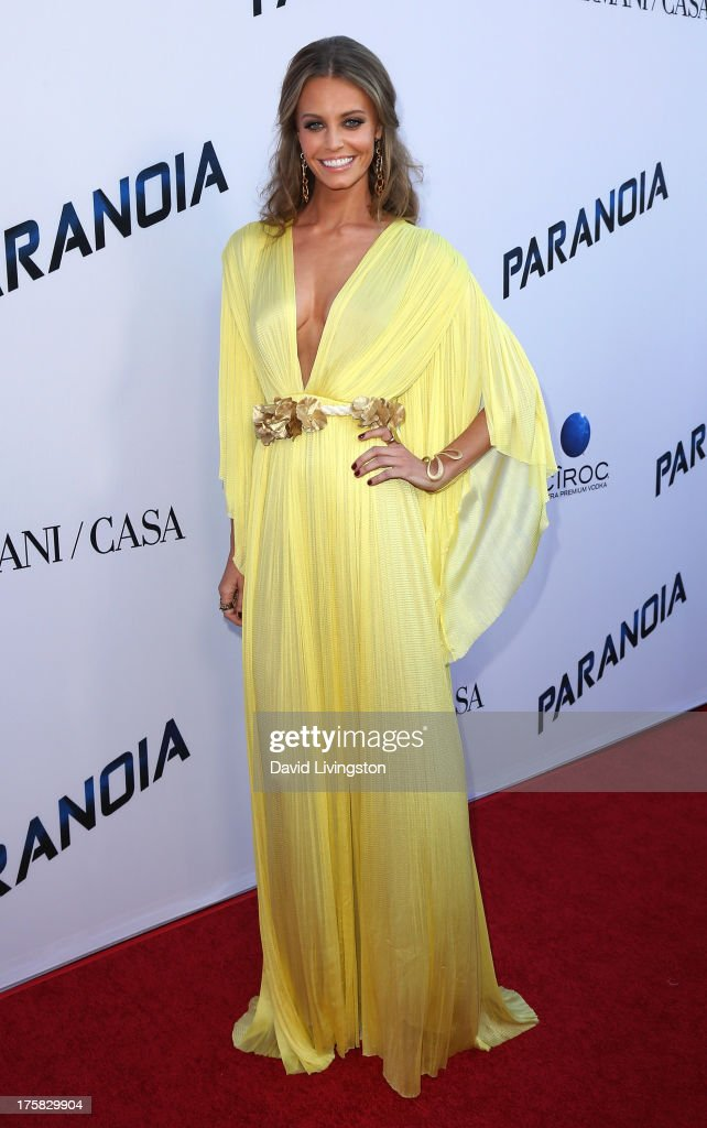 Actress <a gi-track='captionPersonalityLinkClicked' href=/galleries/search?phrase=Christine+Marzano&family=editorial&specificpeople=6860312 ng-click='$event.stopPropagation()'>Christine Marzano</a> attends the premiere of Relativity Media's 'Paranoia' at the DGA Theater on August 8, 2013 in Los Angeles, California.