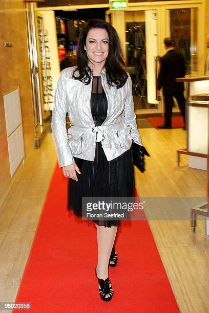 Actress Christine Neubauer attends the premiere of 'Haltet Die Welt an' at cinema Astor Film Lounge on March 24 2010 in Berlin Germany