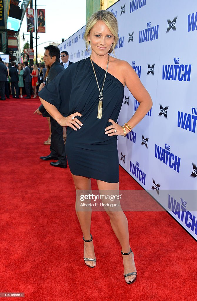 Actress Christine Taylor arrives at the premiere of Twentieth Century Fox's 'The Watch' at Grauman's Chinese Theatre on July 23, 2012 in Hollywood, California.