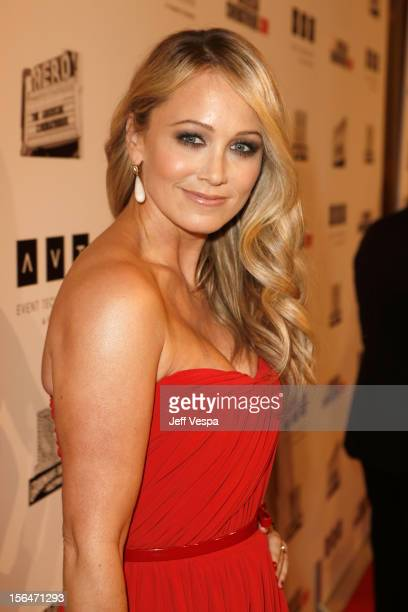 Actress Christine Taylor attends the 26th American Cinematheque Award Gala honoring Ben Stiller at The Beverly Hilton Hotel on November 15 2012 in...