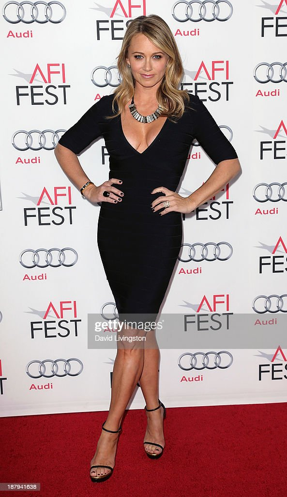 Actress <a gi-track='captionPersonalityLinkClicked' href=/galleries/search?phrase=Christine+Taylor&family=editorial&specificpeople=201985 ng-click='$event.stopPropagation()'>Christine Taylor</a> attends the AFI FEST 2013 presented by Audi premiere of 'The Secret Life of Walter Mitty' at the TCL Chinese Theatre on November 13, 2013 in Hollywood, California.