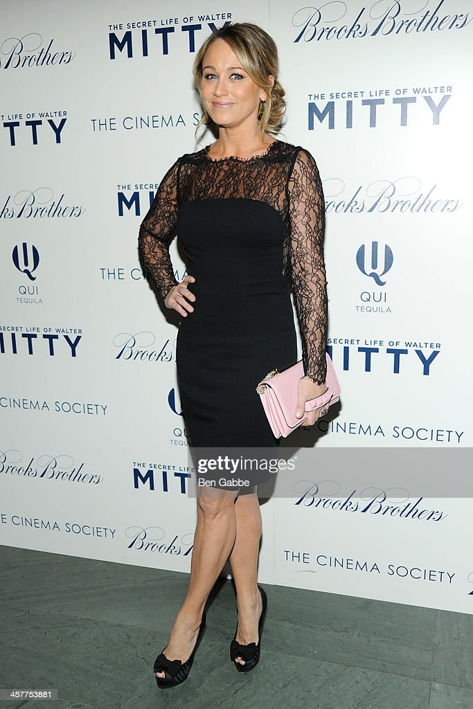 Actress Christine Taylor-Stiller attends 20th Century Fox with The Cinema Society & Brooks Brothers host a screening of 'The Secret Life of Walter Mitty' at The Museum of Modern Art on December 18, 2013 in New York City.