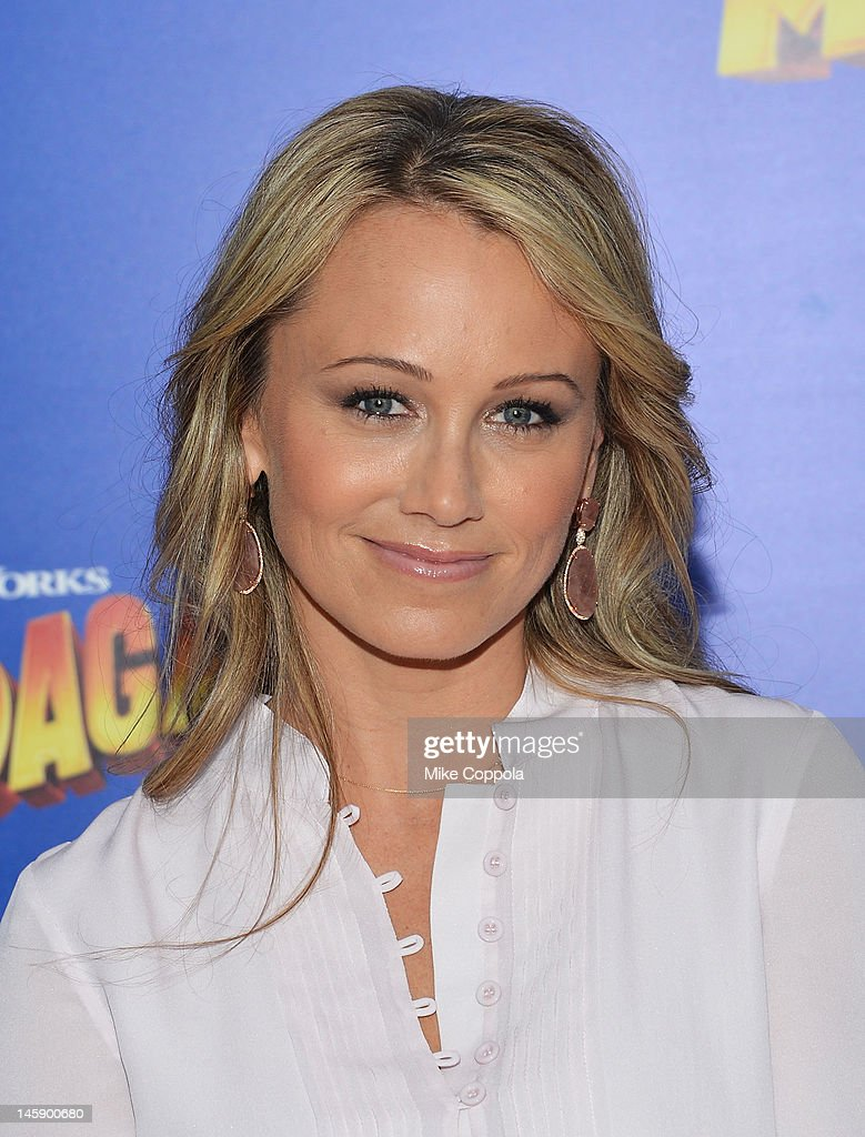 Actress Christine Taylor-Stiller attends the 'Madagascar 3: Europe's Most Wanted' New York Premier at Ziegfeld Theatre on June 7, 2012 in New York City.