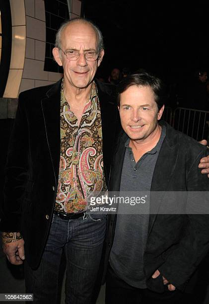 Actress Christopher Lloyd and Michael J Fox arrive at Spike TV's 'Scream 2010' at The Greek Theatre on October 16 2010 in Los Angeles California