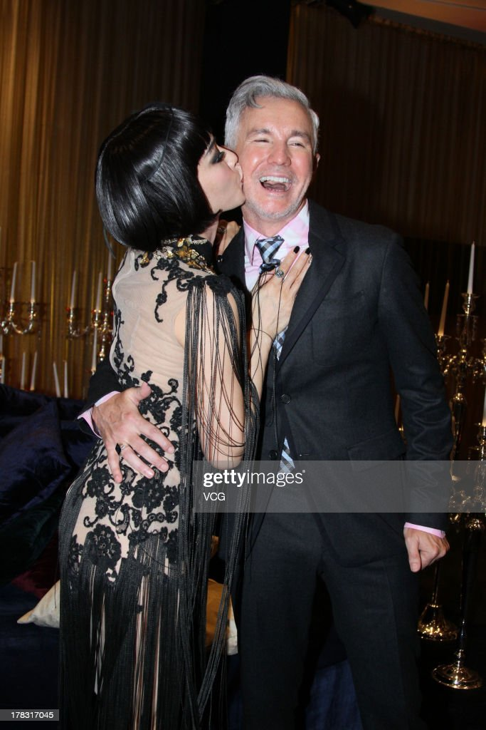 Actress Christy Chung and director <a gi-track='captionPersonalityLinkClicked' href=/galleries/search?phrase=Baz+Luhrmann&family=editorial&specificpeople=209230 ng-click='$event.stopPropagation()'>Baz Luhrmann</a> attend 'The Great Gatsby' premiere at China World Trade Center Tower 3 on August 28, 2013 in Beijing, China.