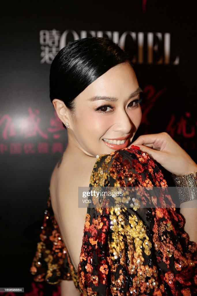 Actress Christy Chung attends 2013 China Elegance Grand Ceremony at National Aquatic Center on October 23, 2013 in Beijing, China.