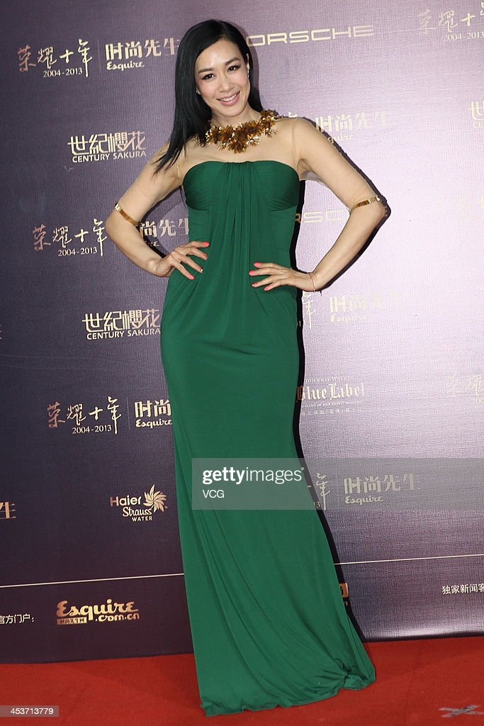 Actress Christy Chung attends Esquire Men Of The Year Awards 2013 at Oriental Theatre on December 4, 2013 in Beijing, China.