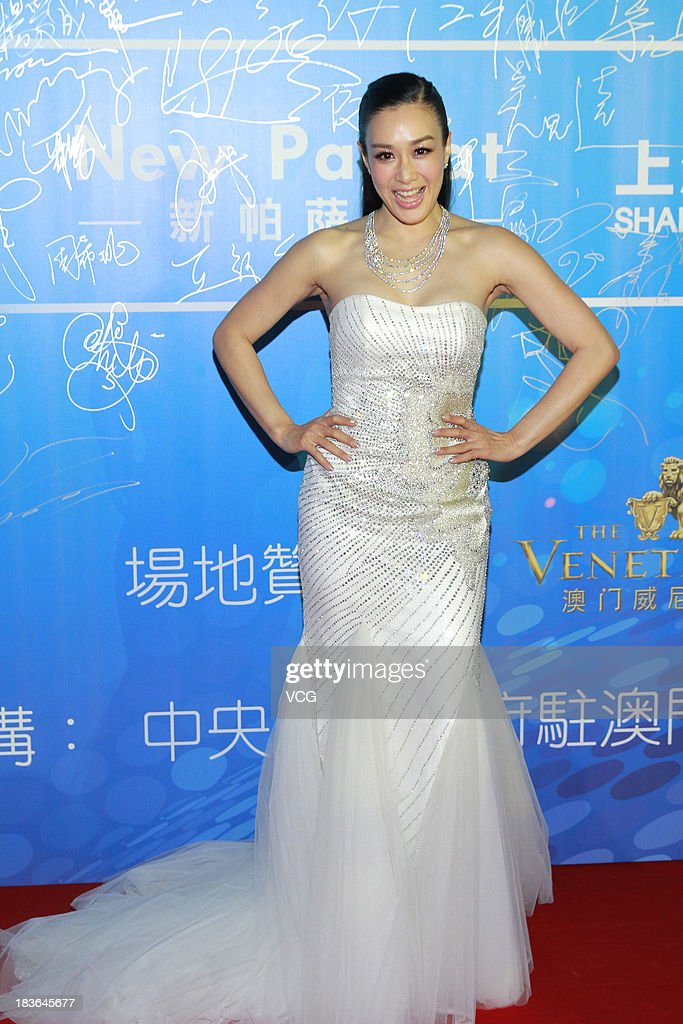 Actress Christy Chung attends the 2013 Huading Awards ceremony at The Venetian on October 7, 2013 in Macau, Macau.
