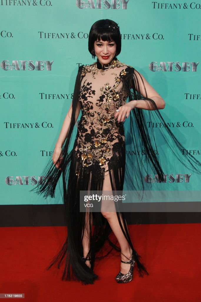 Actress Christy Chung attends 'The Great Gatsby' premiere at China World Trade Center Tower 3 on August 28, 2013 in Beijing, China.