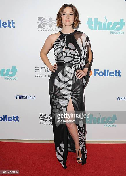 Actress Chyler Leigh arrives at the 6th Annual Thirst Gala at The Beverly Hilton Hotel on June 30 2015 in Beverly Hills California