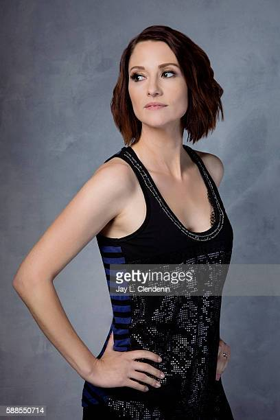 Actress Chyler Leigh of 'Supergirl' is photographed for Los Angeles Times at San Diego Comic Con on July 22 2016 in San Diego California