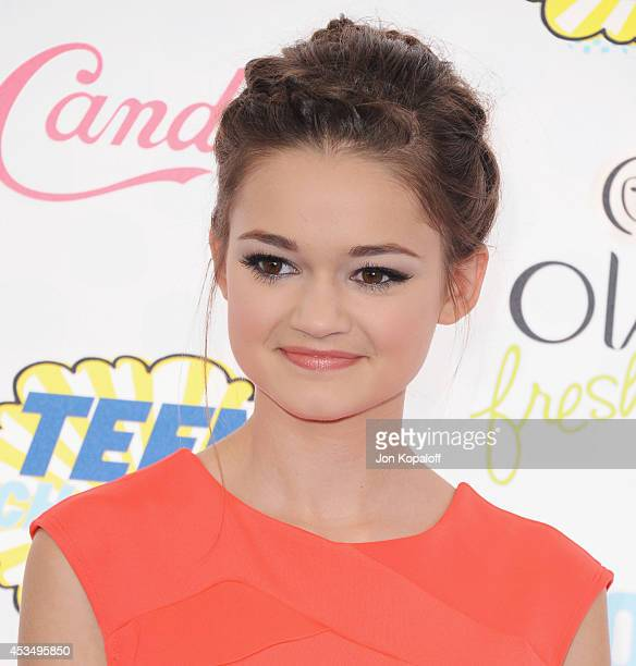 Actress Ciara Bravo arrives at the 2014 Teen Choice Awards at The Shrine Auditorium on August 10 2014 in Los Angeles California