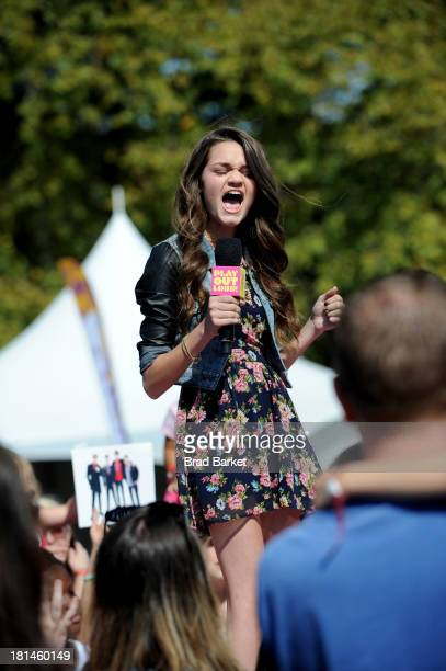 Actress Ciara Bravo speaks at Nickelodeon's 10th Annual Worldwide Day of Play in Brooklyn's Prospect Park on September 21 2013 in New York City