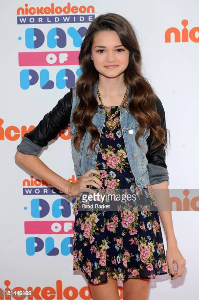 "Actress Ciara Bravo walks the ""orange"" carpet for the 10th Annual Worldwide Day of Play at Prospect Park on September 21 2013 in New York City"
