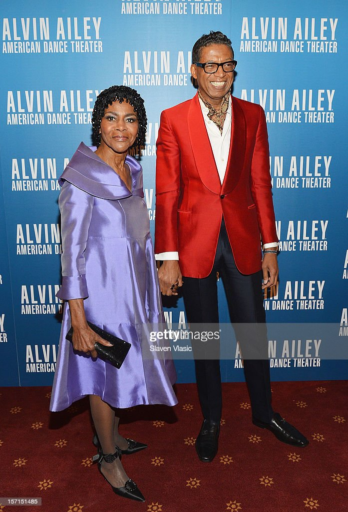 Actress <a gi-track='captionPersonalityLinkClicked' href=/galleries/search?phrase=Cicely+Tyson&family=editorial&specificpeople=211450 ng-click='$event.stopPropagation()'>Cicely Tyson</a> and designer B. Michael attend the Alvin Ailey American Dance Theater Opening Night Gala at New York City Center on November 28, 2012 in New York City.
