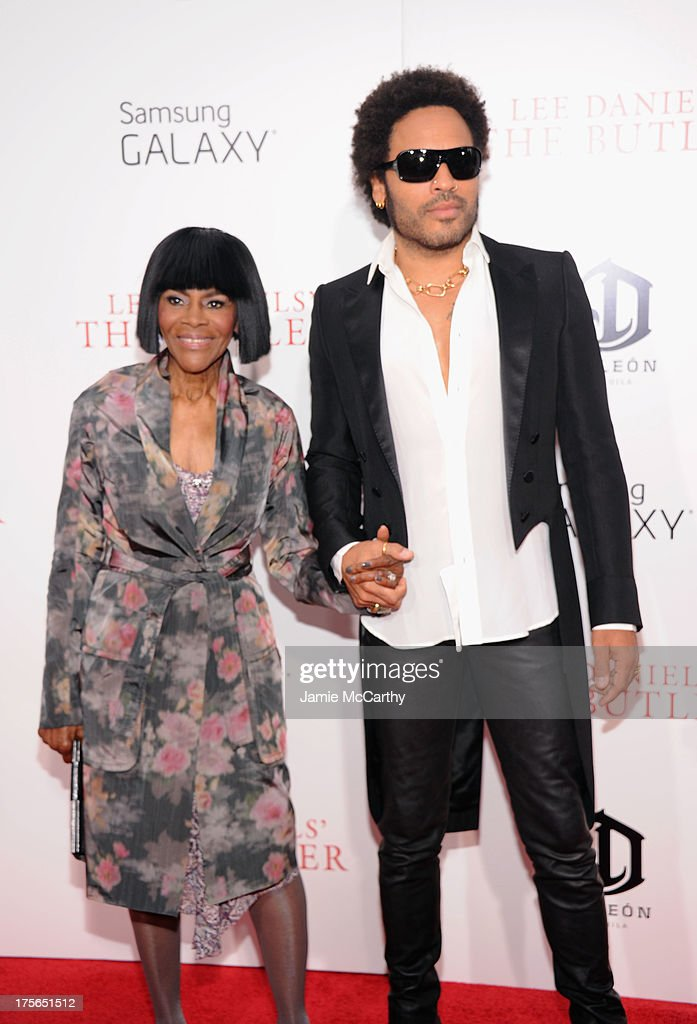 Actress Cicely Tyson (L) and musician Lenny Kravitz attend Lee Daniels' 'The Butler' New York Premiere at Ziegfeld Theater on August 5, 2013 in New York City.