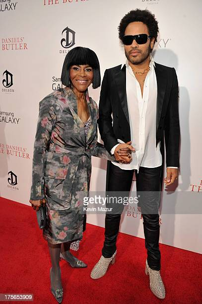 Actress Cicely Tyson and musician Lenny Kravitz attend Lee Daniels' 'The Butler' New York premiere hosted by TWC DeLeon Tequila and Samsung Galaxy on...