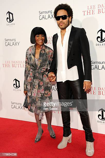 Actress Cicely Tyson and singersongwriter and actor Lenny Kravitz attend Lee Daniels' 'The Butler' New York Premiere at Ziegfeld Theater on August 5...