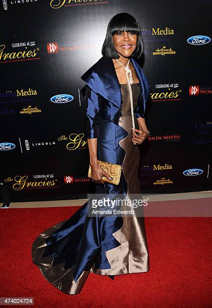 Actress Cicely Tyson arrives at the 40th Anniversary Gracies Awards at The Beverly Hilton Hotel on May 19 2015 in Beverly Hills California