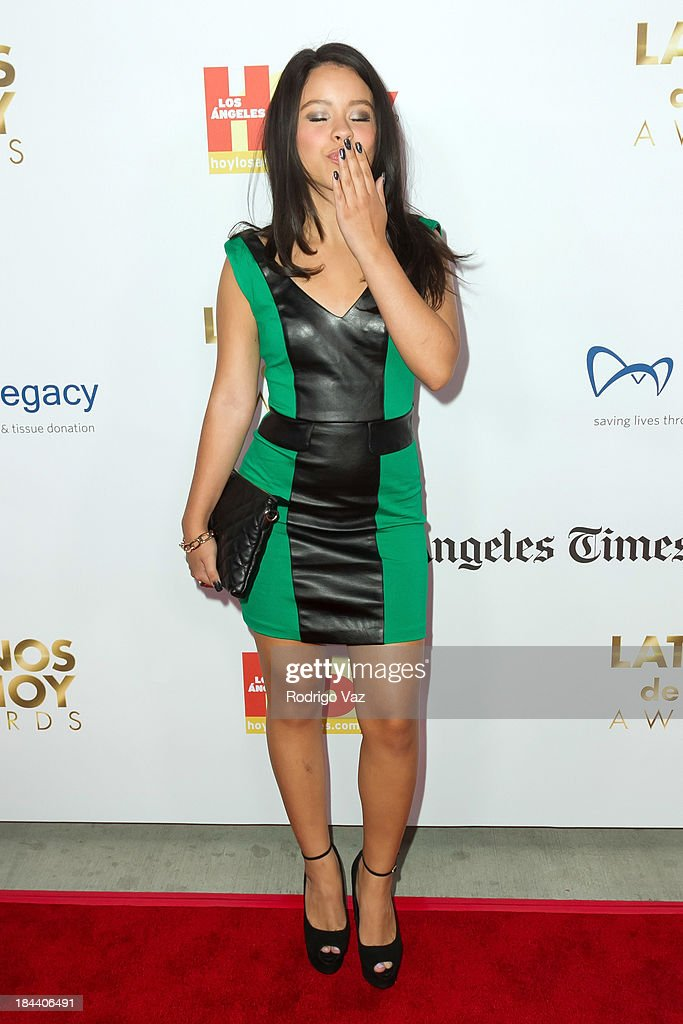 Actress <a gi-track='captionPersonalityLinkClicked' href=/galleries/search?phrase=Cierra+Ramirez&family=editorial&specificpeople=6558515 ng-click='$event.stopPropagation()'>Cierra Ramirez</a> arrives at the 2013 Latinos De Hoy Awards at Los Angeles Times Chandler Auditorium on October 12, 2013 in Los Angeles, California.
