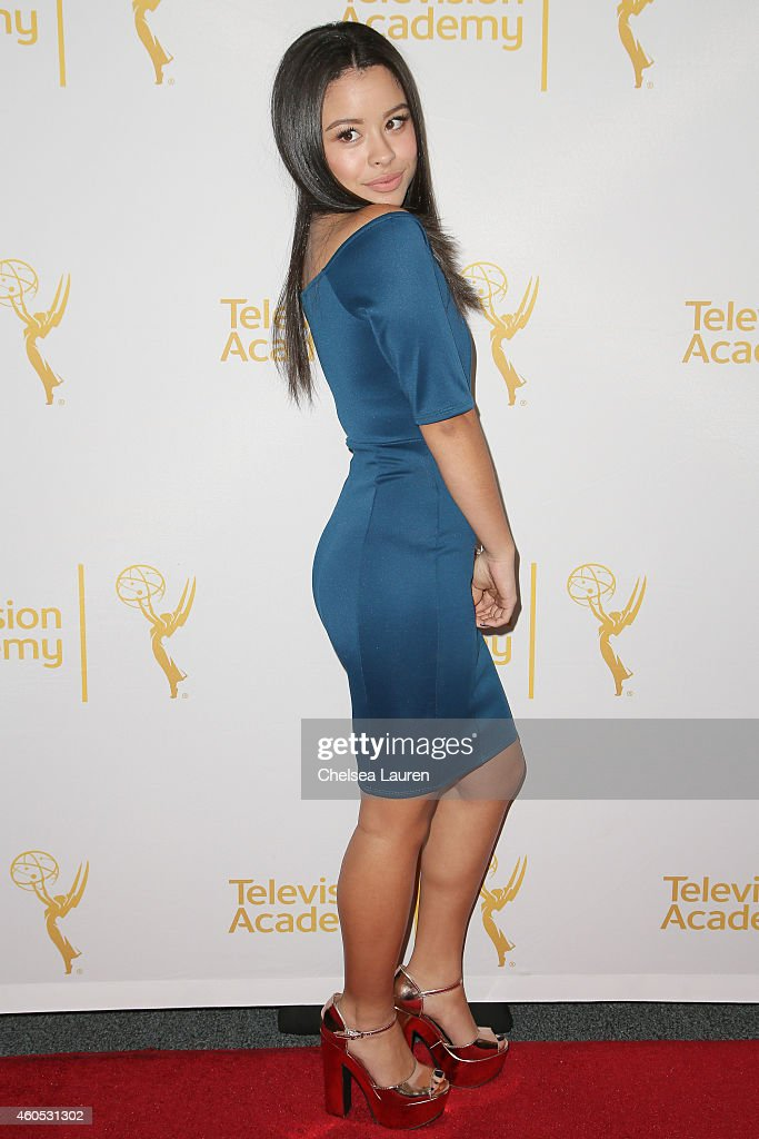 Actress Cierra Ramirez attends 'An Evening With The Fosters' presented by the Television Academy at El Portal Theatre on December 15 2014 in North...
