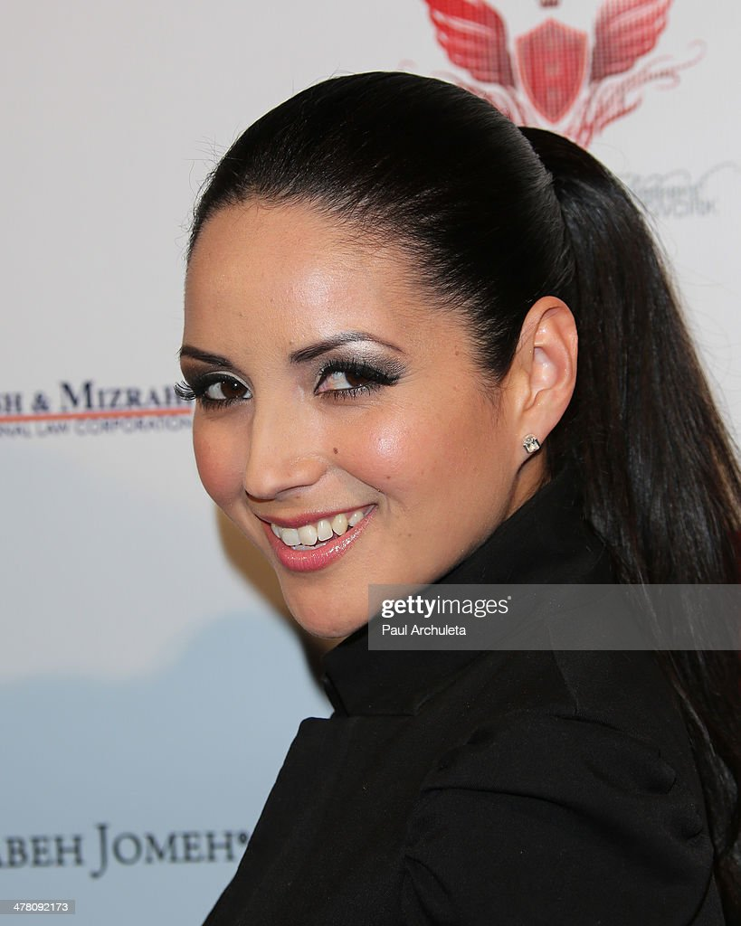 Actress Cindy Vela attends the premiere of 'Shirin In Love' at Avalon on March 11, 2014 in Hollywood, California.