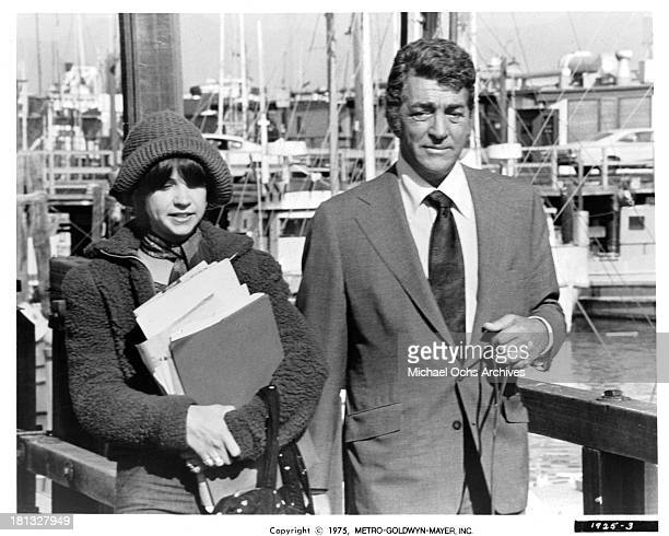 Actress Cindy Williams and actor Dean Martin set of the MetroGoldwyn Mayer movie ' Mr Ricco' in 1975