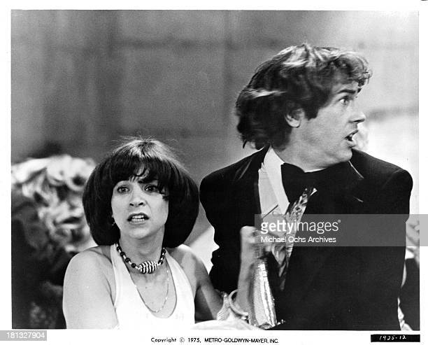 Actress Cindy Williams and actor Joseph Hacker on set of the MetroGoldwyn Mayer movie ' Mr Ricco' in 1975