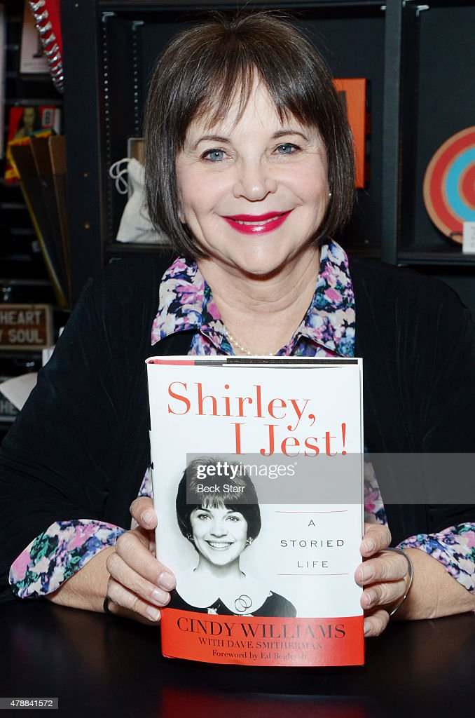 Actress Cindy Williams discusses and signs copies of her new book 'Shirley I Jest A Storied Life' at Book Soup on June 27 2015 in West Hollywood...