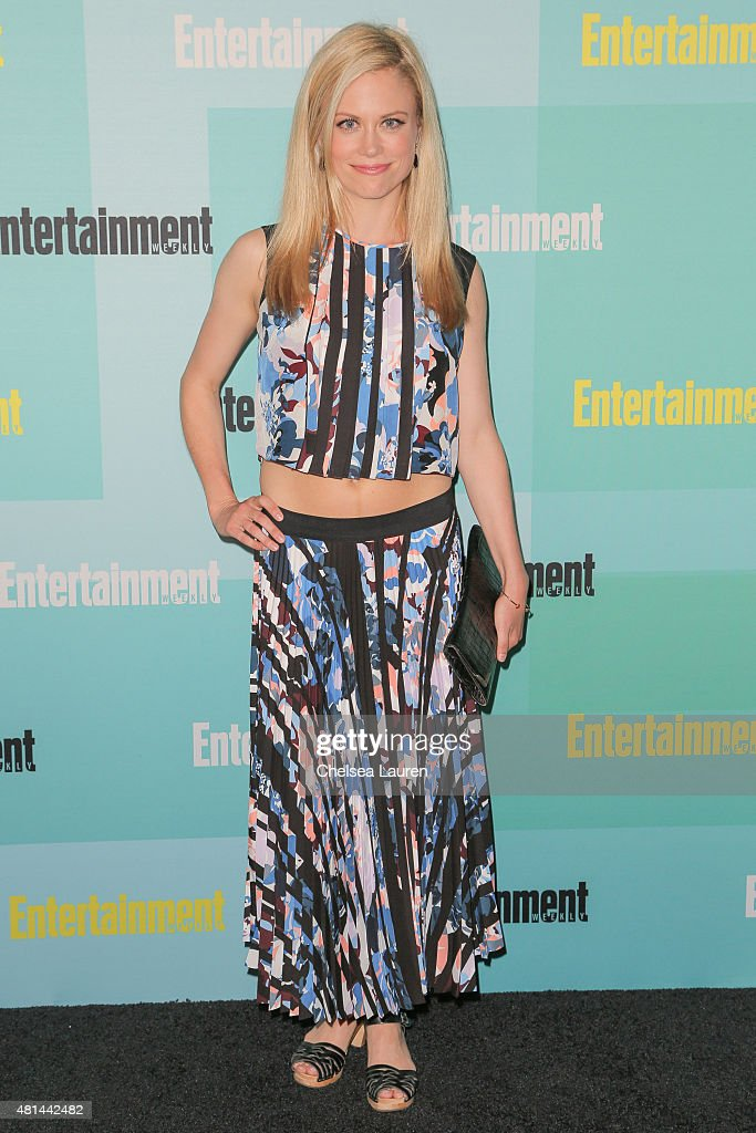 Actress Claire Coffee arrives at the Entertainment Weekly celebration at Float at Hard Rock Hotel San Diego on July 11, 2015 in San Diego, California.