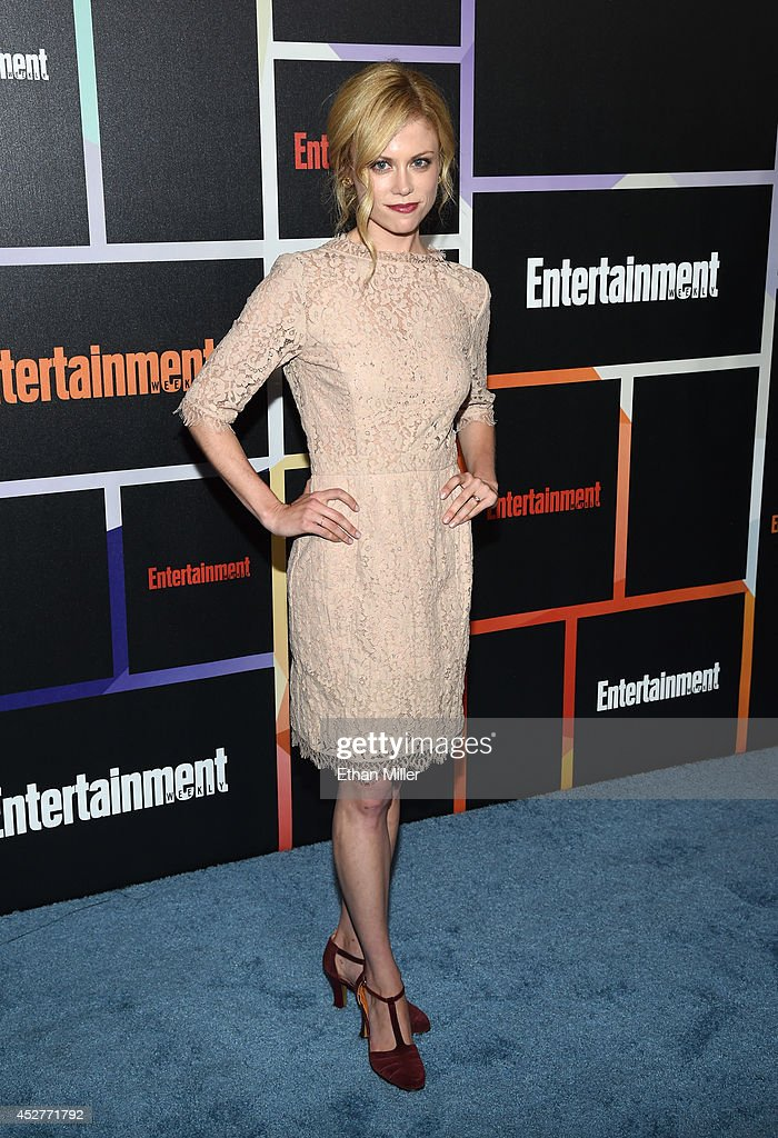 Actress <a gi-track='captionPersonalityLinkClicked' href=/galleries/search?phrase=Claire+Coffee&family=editorial&specificpeople=5407090 ng-click='$event.stopPropagation()'>Claire Coffee</a> attends Entertainment Weekly's annual Comic-Con celebration at Float at Hard Rock Hotel San Diego on July 26, 2014 in San Diego, California.