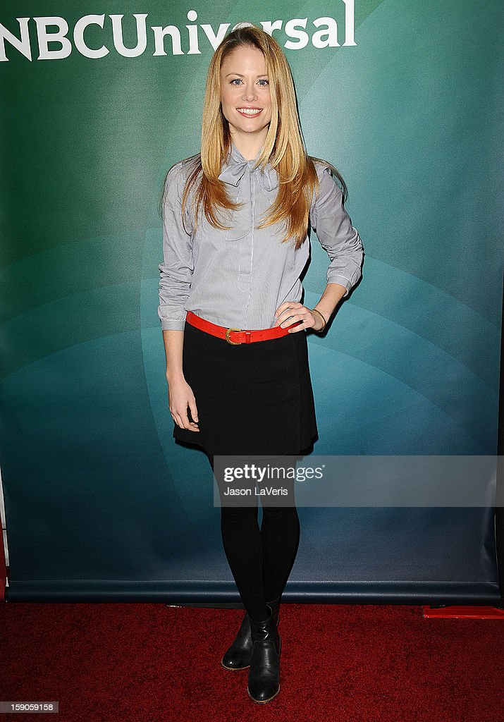 Actress Claire Coffee attends the 2013 NBC TCA Winter Press Tour at The Langham Huntington Hotel and Spa on January 6, 2013 in Pasadena, California.