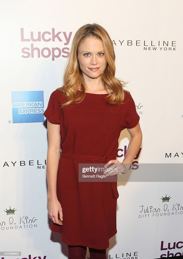 Actress Claire Coffee attends the 9th Annual Lucky Shops Event at 82 Mercer on December 6, 2012 in New York City.