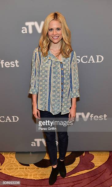 Actress Claire Coffee attends the 'Grimm' event during aTVfest 2016 presented by SCAD on February 7 2016 in Atlanta Georgia