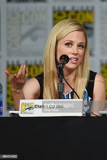 Actress Claire Coffee attends the 'Grimm' season five panel during ComicCon International 2015 at the San Diego Convention Center on July 11 2015 in...