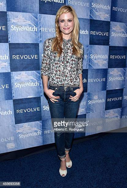 Actress Claire Coffee attends the People StyleWatch Denim Event at The Line on September 18 2014 in Los Angeles California