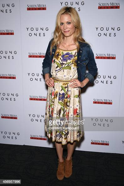 Actress Claire Coffee attends the 'Young Ones' New York premiere at Sunshine Landmark on October 9 2014 in New York City
