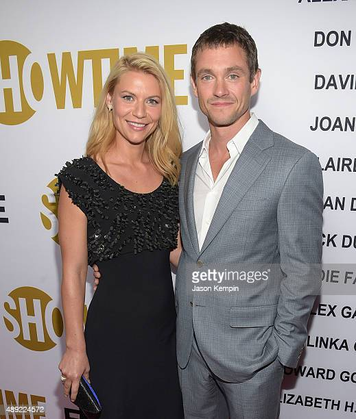 Actress Claire Danes and actor Hugh Dancy attend the Showtime 2015 Emmy Eve Party at Sunset Tower Hotel on September 19 2015 in West Hollywood...