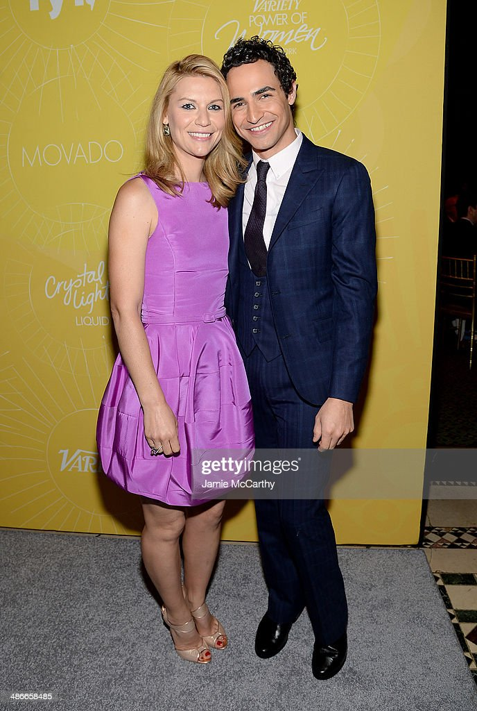 Actress <a gi-track='captionPersonalityLinkClicked' href=/galleries/search?phrase=Claire+Danes&family=editorial&specificpeople=202666 ng-click='$event.stopPropagation()'>Claire Danes</a> (L) and designer Zac Posen attend Variety Power Of Women: New York presented by FYI at Cipriani 42nd Street on April 25, 2014 in New York City.