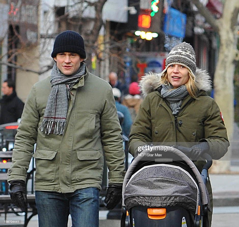 Actress <a gi-track='captionPersonalityLinkClicked' href=/galleries/search?phrase=Claire+Danes&family=editorial&specificpeople=202666 ng-click='$event.stopPropagation()'>Claire Danes</a> and <a gi-track='captionPersonalityLinkClicked' href=/galleries/search?phrase=Hugh+Dancy&family=editorial&specificpeople=214056 ng-click='$event.stopPropagation()'>Hugh Dancy</a> as seen on December 24, 2012 in New York City.