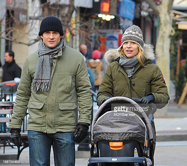 Actress Claire Danes and Hugh Dancy as seen on December 24 2012 in New York City