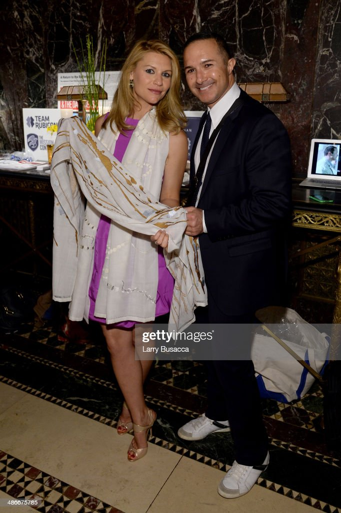 Actress <a gi-track='captionPersonalityLinkClicked' href=/galleries/search?phrase=Claire+Danes&family=editorial&specificpeople=202666 ng-click='$event.stopPropagation()'>Claire Danes</a> (L) and Matin Maulawizada attend Variety Power Of Women: New York presented by FYI at Cipriani 42nd Street on April 25, 2014 in New York City.