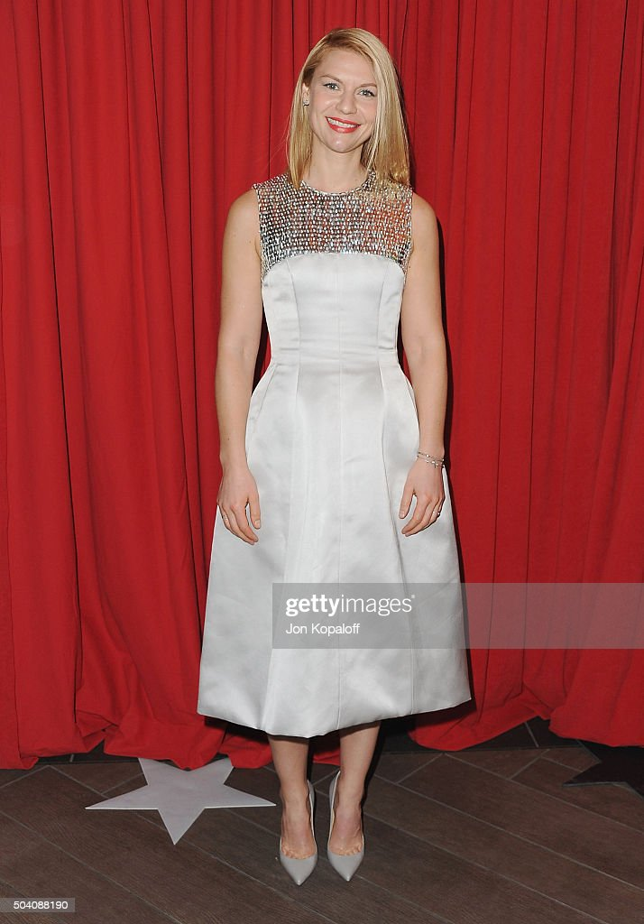 Actress Claire Danes arrives at the 16th Annual AFI Awards on January 8 2016 in Los Angeles California