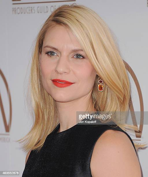 Actress Claire Danes arrives at the 26th Annual PGA Awards at the Hyatt Regency Century Plaza on January 24 2015 in Los Angeles California