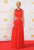 Actress Claire Danes arrives at the 66th Annual Primetime Emmy Awards at Nokia Theatre LA Live on August 25 2014 in Los Angeles California