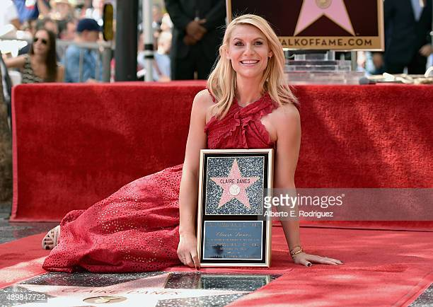 Actress Claire Danes attends a ceremony honoring her with the 2559th Star on the Hollywood Walk of Fame on September 24 2015 in Hollywood California