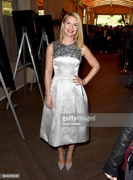 Actress Claire Danes attends the 16th Annual AFI Awards at Four Seasons Hotel Los Angeles at Beverly Hills on January 8 2016 in Beverly Hills...