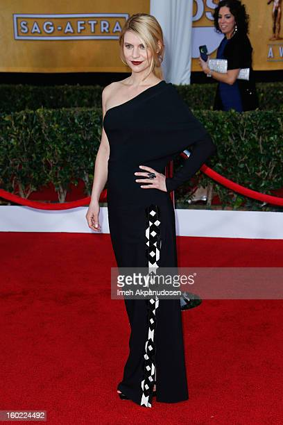 Actress Claire Danes attends the 19th Annual Screen Actors Guild Awards at The Shrine Auditorium on January 27 2013 in Los Angeles California